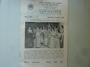 CIVIC ASSEMBLY OF WOMEN OF PHILIPPINES NEWSLETTER Vo.I No. 1 December - January 1970
