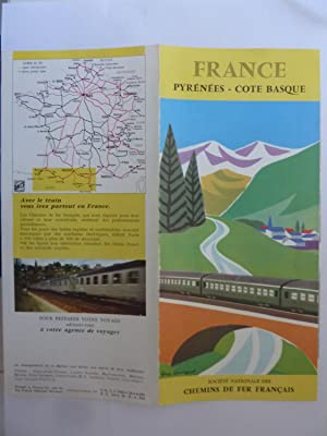 FRANCE PYRENEES - COTE BASQUE Societè Nationale Chemin de Fer Francais