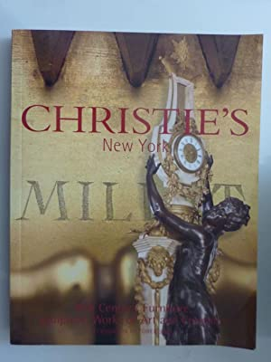 CHRISTIE'S NEW YORK 19th Century Furniture, Sculpture, Works of Art and Ceramics 28 OCTOBER 2003