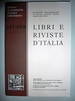 Rassegna d'informazione culturale e bibliografia 651 -654,: AA.VV.