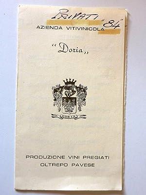 AZIENDA VITIVINICOLA DORIA Produzione di Vini Pregiati