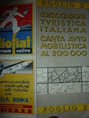 Consociazione Turistica Italiana - CARTA AUTOMOBILISTICA AL 200.000 - FOGLIO 2 ( Bolzano - Coira )&...