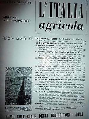 Rivista Mensile L'ITALIA AGRICOLA, Anno 102 N.
