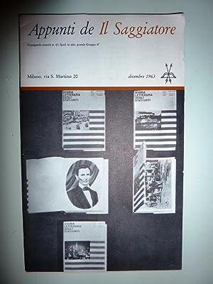 """APPUNTI DE IL SAGGIATORE, Dicembre 1963"""""""