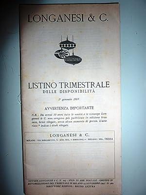 LONGANESI & C. LISTINO TRIMESTRALE DELLE DISPONIBILITA.