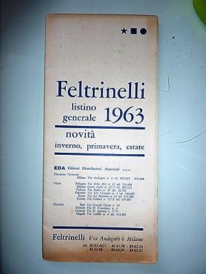 FELTRINELLI - Listino Generale 1963. Novità Inverno,