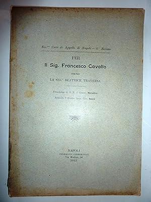 Ecc.ma Corte di Appello di Napoli -