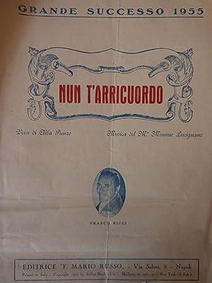 Grande Successo 1955 - NUN T'ARRICUORDO Versi: AA.VV.