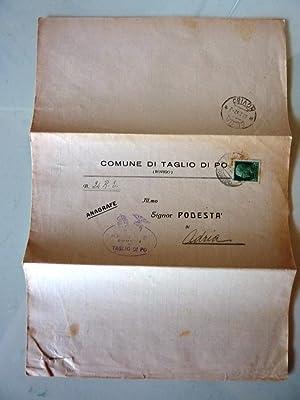 """Documento """"COMUNE DI TAGLIO DI PO All. Illustrissimo PODESTA' di ADRIA, Oggetto: ..."""