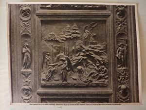 """Fotografia """"Edizioni Alinari n.° 1868 FIRENZE Battistero"""