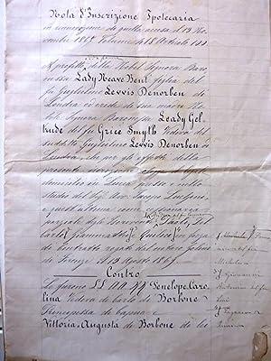 Araldica, Casa Reale dei Borbone - Manoscritto