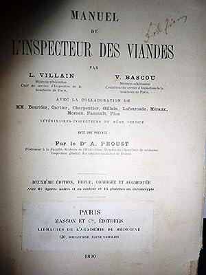 MANUEL DE L'ISPECTEUR DES VIANDES Par L.: L. Villain -