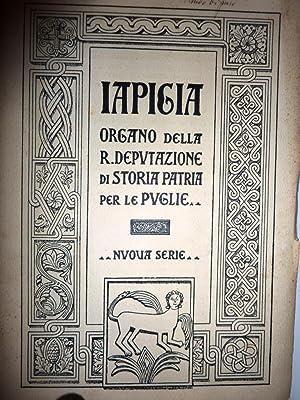 IAPIGIA ORGANO DELLA R. DEPUTAZIONE DI STORIA: AA.VV.