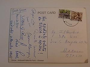 """Cartolina Viaggiata """"GHEPARDO"""" Nairobi 1965 AUTOGRAFI DI FOTOGRAFI E GIORNALISTI DI &quot..."""