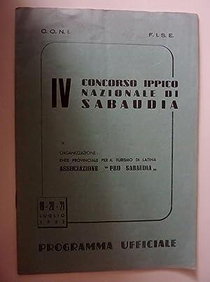 C.O.N.I. - F.I.S.E. IV CONCORSO IPPICO NAZIONALE: AA.VV.