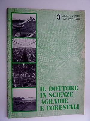 IL DOTTORE IN SCIENZE AGRARIE E FORESTALI: AA.VV.