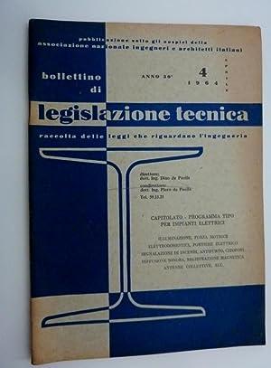 BOLLETTINO DI LEGISLAZIONE TECNICA, Raccolta delle leggi: AA.VV.