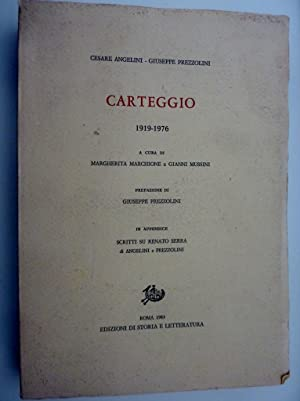 CARTEGGIO 19198 -1976 A Cura di Margherita: Cesare Angelini -