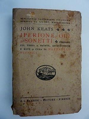 IPERIONE,ODE,SONETTI Versione con testo a fronte, Introdruzione: John Keats