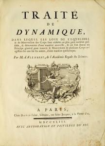 Traité de dynamique, dans lequel les Loix: D'ALEMBERT, Jean le