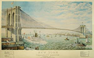 NEW YORK AND BROOKLYN BRIDGE (Bridge n°1) John A Roebling. Designer and 1st Chief Engineer.