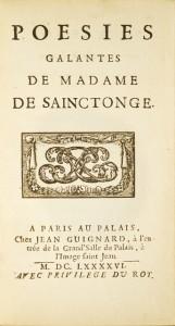Poésies galantes de Madame de Sainctonge.: SAINCTONGE