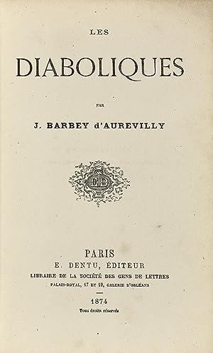 Les Diaboliques.: BARBEY D'AUREVILLY, Jules.