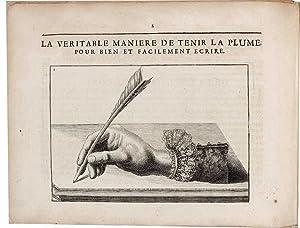 Le Nouveau livre d'Ecritures Italiene Bâtarde. Avec: LESGRET, Nicolas [l'Aïné].