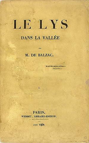 Le Lys dans la Vallée.: BALZAC, Honoré de.