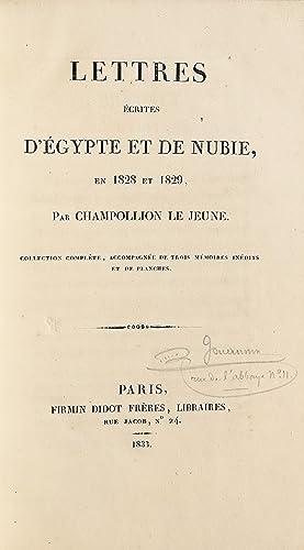 Lettres écrites d'Égypte et de Nubie, en: CHAMPOLLION LE JEUNE.
