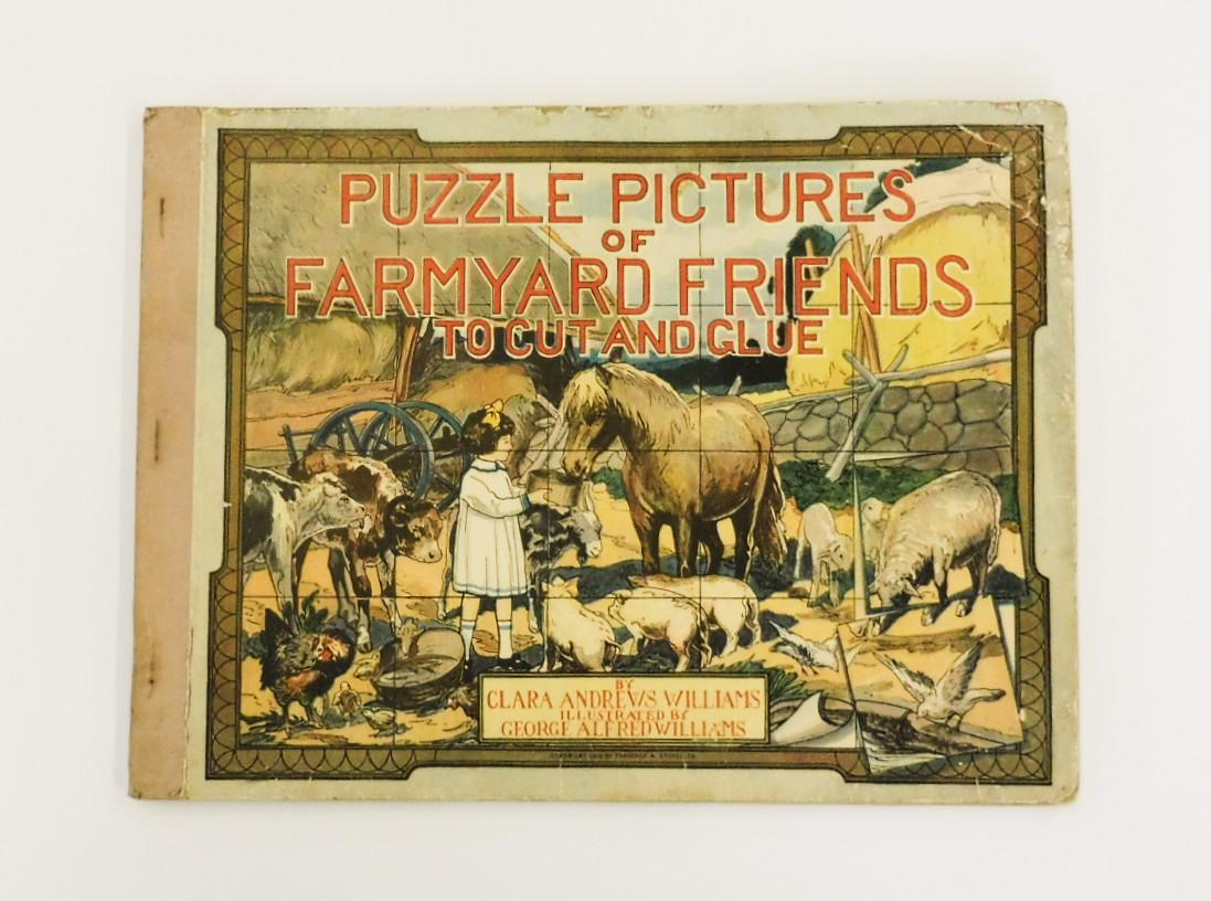 PUZZLE PICTURES OF FARMYARD FRIENDS TO CUT AND GLUE Williams, Clara Andrews Very Good Hardcover