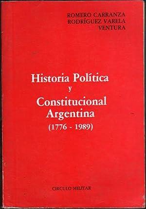 Historia Politica y Constitucional Argentina (1776-1989): Romero Carranza, Ambrosio;