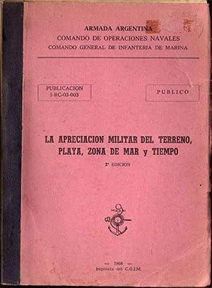 La apreciación militar del terreno, playa, zona de mar y tiempo: Armada Argentina