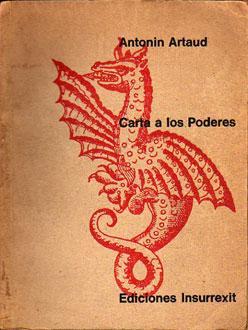 Carta a los Poderes: Artaud, Antonin