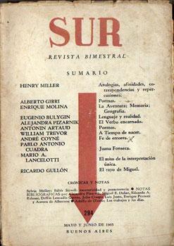 Sur Nº 294, Revista Bimestral Mayo y: Henry Miller, Alberto