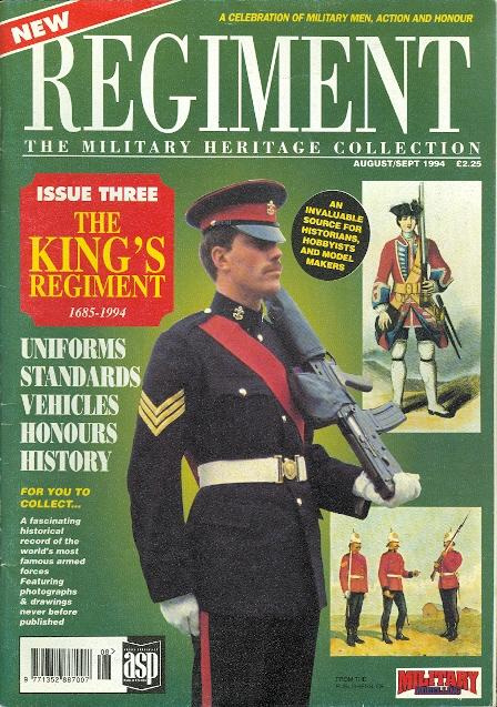 552c0787d355 REGIMENT  THE MILITARY HERITAGE COLLECTION. ISSUE THREE  THE KING S  REGIMENT 1685-1994.