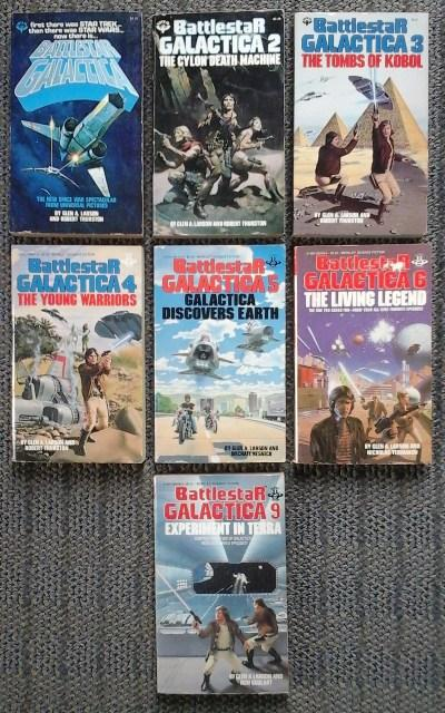 BATTLESTAR GALACTICA 1, 2, 3, 4, 5, 6, 9. 1. BATTLESTAR GALACTICA / 2. THE CYLON DEATH MACHINE / 3. THE TOMBS OF KOBOL / 4. THE YOUNG WARRIORS / 5. G