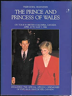 THEIR ROYAL HIGHNESSES THE PRINCE AND PRINCESS OF WALES ON TOUR IN THE CANADIAN CITIES OF VICTORI...