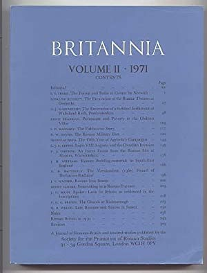 BRITANNIA: A JOURNAL OF ROMANO-BRITISH AND KINDRED: Branigan, Keith; Brown,