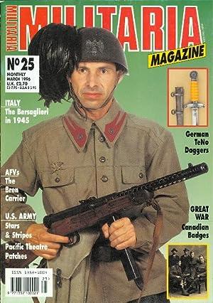 MILITARIA MAGAZINE. NO. 25. MARCH 1996. (ENGLISH: Constant, David, ed.