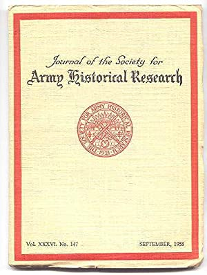 JOURNAL OF THE SOCIETY FOR ARMY HISTORICAL: McGuffie, T.H., ed.