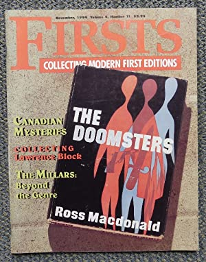 FIRSTS: COLLECTING MODERN FIRST EDITIONS. NOVEMBER, 1994.: Smiley, Kathryn, ed.