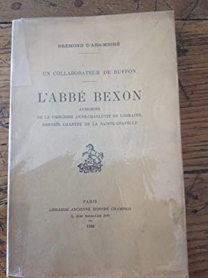 L'Abbé BEXON . Un collaborateur de BUFFON.