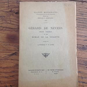 GERARD DE NEVERS ,version du ROMAN de la VIOLETTE. ( XV e )