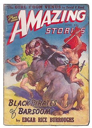 AMAZING STORIES - VOL.15, NO.6 (JUNE, 1941): Burroughs, Edgar Rice; William P. McGivern; James ...