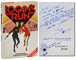 LOGAN'S RUN - INSCRIBED TO HERB YELLIN: Nolan, William F.