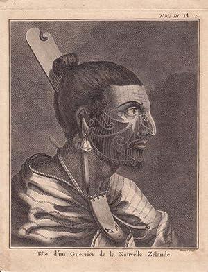 PORTRAIT OF A NEW ZEALAND WARRIOR: Cook, Captain James