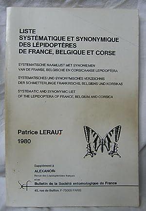 Liste Systematique et Synonymique Des Lepidopteres De: Leraut, P.
