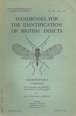 Hymenoptera. (Diptera.) Cynipoidea. Key to families and: Eady, R.D. and
