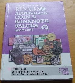 Renniks Australian Coin & Banknote Values 10th: PITT, IAN W
